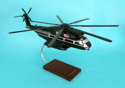 USMC - Presidential AF1 - Sikorsky CH-53E Presidential Support Helicopter - 1/48 Scale Mahogany Model - C5148H3W