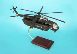 US Army - Sikorsky CH-54 Skycrane Helicopter - 1/48 Scale Mahogany Model - D0848H3W