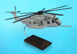 USMC - Sikorsky CH-53E Super Sea Stallion - 1/48 Scale Mahogany Helicopter Model - C2248H3W