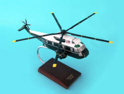 USMC - Presidential One Helio - Sikorsky VH-3D Seaking Marine One Helicopter - 1/48 Scale Mahogany Model - C2448H3W