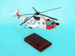 USCG - Sikorsky - HH-3F (S-61) Pelican - 1/48 Scale Mahogany Model