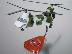 USMC - CH-46 Sea Knight Marines - 1/32 Scale Mahogany Model