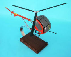 US Army - Hughes - TH-55 Osage Trainer - 1/40 Scale Mahogany Model - H8383