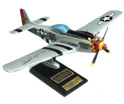 P-51D Mustang model signed by Chuck Yeager