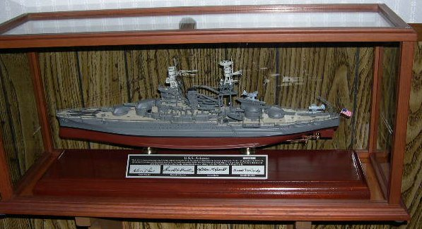 USS Arizona - Signed - 1/350 Scale Mahogany Ship Model - Signature Series