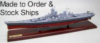 Click here for Stock & Made to Order Submarine and Ship Models