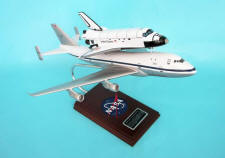 NASA - Boeing 747 with Orbiter Shuttle Piggyback - Super Elite - 1/144 Scale Mahogany Model
