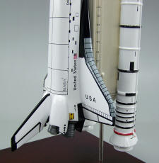 Columbia Shuttle Full Stack - 1/144 Scale Mahogany Model