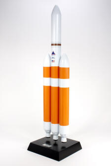 Delta IV Rocket (Heavy) - 1/100 Scale Mahogany Model