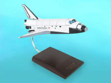 NASA - Space Shuttle Discovery - 1/100 Scale Large Mahogany Model