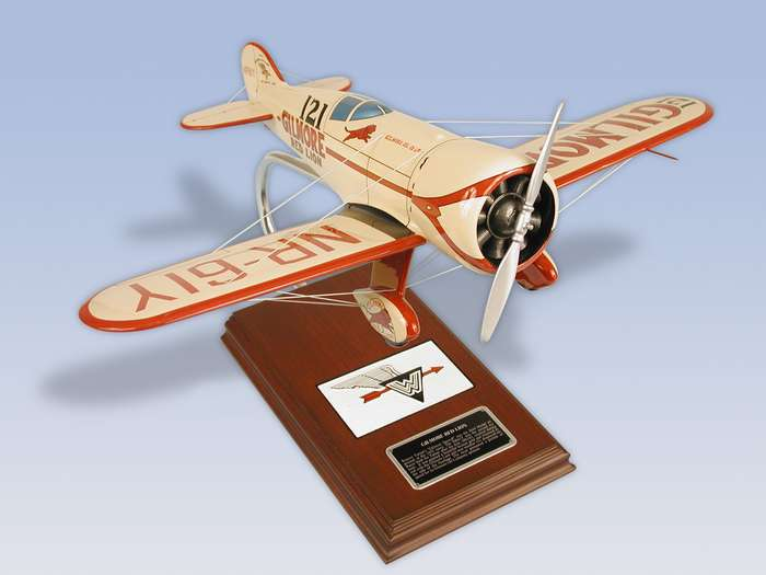 "Wedell-Williams - Gilmore ""Red Lion"" - 1/20 Scale Mahogany Airplane Model - Elite Skywarrior"
