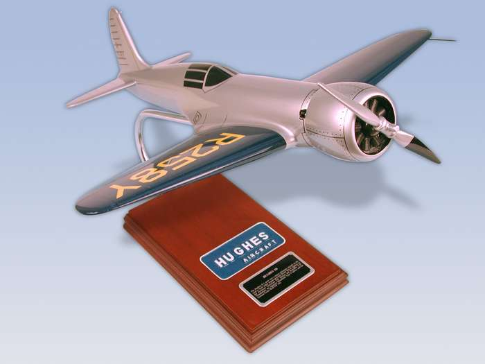 Hughes 1-B - 1/20 Scale Mahogany Airplane Model - Elite Skywarrior