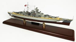 Click Here For Details And A Larger View - WWII German - Bismarck Battleship - 1/350 Scale Mahogany Model
