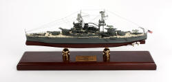 Click Here For Details And A Larger View - USS Arizona Battleship BB-39 - 1/350 Scale Mahogany Model