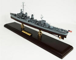 Click Here For A Larger View - USN Square Bridged Fletcher Class Destroyer - 1/192 Scale Mahogany Model