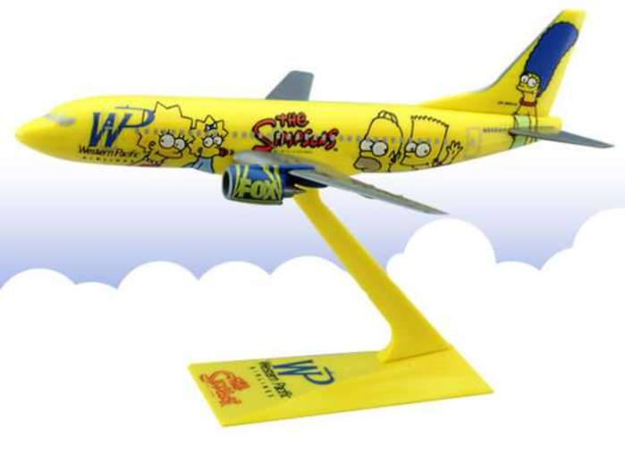 Long Prosper - Simpson's Western Pacific 737-300 - 1:200 Scale Plastic Airplane Model