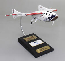 SpaceShipOne with Landing Gear Down - 1/32 Scale Large Mahogany Model