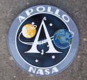 "Apollo Program Insignia 14"" Mahogany Plaque"